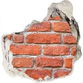 Fototapet un zid spart cu priveliște Zid de cărămidă