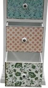 Comoda cu 5 sertare Paisley, MDF, 110x33x32 cm