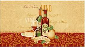 Covoras bucatarie Davo Pro Vino, dreptunghiular, multicolor, 67 x 120 cm