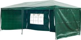 Outsunny Pavilion penrtu Extern Impermeabil din Oțel și PE cu Panouri Detașabile, Verde, 3x6m