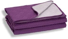 Cuvertura de pat Somnart, mov, microfibra soft-touch, 220X240 cm