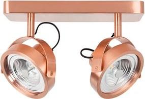 Plafoniera dimabila cu spot cupru cu 2 LED Spot Light Dice Zuiver